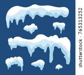 snow ice icicle set winter... | Shutterstock . vector #765313252