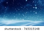 christmas background with snow... | Shutterstock . vector #765315148