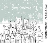 Christmas Card With Happy Dogs...
