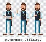 businessman cartoon character... | Shutterstock .eps vector #765321532