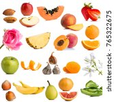 close up of multiple fruits and ... | Shutterstock . vector #765322675