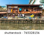 residential area at the khlong...   Shutterstock . vector #765328156