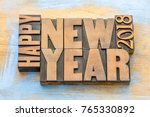 happy new year 2018 greeting... | Shutterstock . vector #765330892