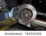 replacement of disc brakes | Shutterstock . vector #765331456