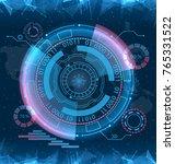 futuristic interface hud design ...   Shutterstock . vector #765331522