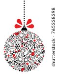 christmas ornament with new... | Shutterstock .eps vector #765338398