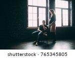 photo shoot in the studio of a... | Shutterstock . vector #765345805