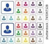 businessman avatar color flat... | Shutterstock .eps vector #765347128