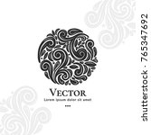 vector emblem. can be used for... | Shutterstock .eps vector #765347692