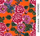 rose seamless pattern.... | Shutterstock .eps vector #765354082
