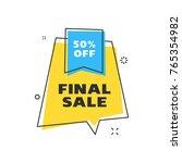 sale banner design template.... | Shutterstock .eps vector #765354982