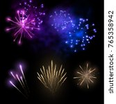 holiday fireworks effects...   Shutterstock .eps vector #765358942