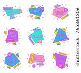 sale banners design templates... | Shutterstock .eps vector #765361306