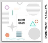 vector set of abstract... | Shutterstock .eps vector #765368596
