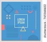 vector set of abstract... | Shutterstock .eps vector #765368602