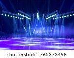 light from the scene  a rock... | Shutterstock . vector #765373498