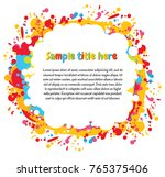 abstract color splash. space... | Shutterstock .eps vector #765375406