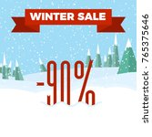 winter sale numbers on the... | Shutterstock .eps vector #765375646