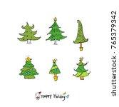 hand drawn illustration set  ... | Shutterstock .eps vector #765379342