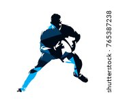 running rugby player  abstract... | Shutterstock .eps vector #765387238