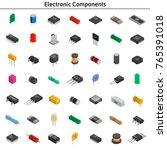 big vector set of izometric... | Shutterstock .eps vector #765391018