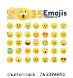 abstract set 04 of funny flat... | Shutterstock .eps vector #765396892