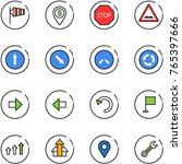 line vector icon set   side... | Shutterstock .eps vector #765397666