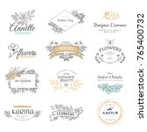 collection of logo templates.... | Shutterstock .eps vector #765400732