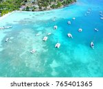 turquoise coast in british... | Shutterstock . vector #765401365