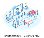 online education concept.... | Shutterstock .eps vector #765401782