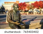 Small photo of Annapolis, MD - November 26, 2017: The bronze life-size Kunta Kinte - Alex Haley Memorial is located in downtown Annapolis, Maryland.