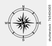 wind rose compass  vector... | Shutterstock .eps vector #765404305
