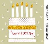 modern birthday card with... | Shutterstock .eps vector #765418582