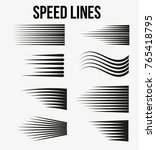 speed lines black for manga and ... | Shutterstock .eps vector #765418795