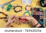 jewellery making. making... | Shutterstock . vector #765420256
