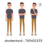set of character young man in... | Shutterstock .eps vector #765431155