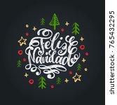 feliz navidad translated from... | Shutterstock .eps vector #765432295