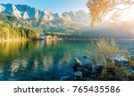 picturesque landscape and... | Shutterstock . vector #765435586
