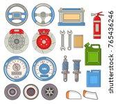 set auto parts car repairs... | Shutterstock .eps vector #765436246