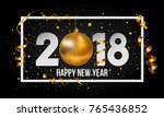 vector 2018 happy new year... | Shutterstock .eps vector #765436852
