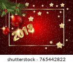 merry christmas and happy new... | Shutterstock .eps vector #765442822
