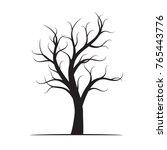 black winter naked tree. vector ... | Shutterstock .eps vector #765443776