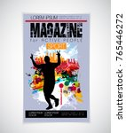 sport magazine cover | Shutterstock .eps vector #765446272