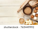 cooking ingredients background. ... | Shutterstock . vector #765449992