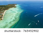 aerial view of tropical... | Shutterstock . vector #765452902