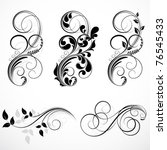 set of floral elements for... | Shutterstock .eps vector #76545433