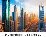 amazing dubai downtown... | Shutterstock . vector #765455512