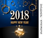 2018 happy new year background... | Shutterstock .eps vector #765459142