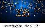 2018 happy new year background... | Shutterstock .eps vector #765461158