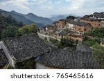 sunset in the yangchan tulou ... | Shutterstock . vector #765465616